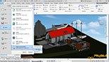 سایه ها Shadows در نوار ابزار کنترل کننده دیدها View Control Bar در نرم افزار اتودسک رویت معماری آرکیتکچر 2018 (Autodesk Revit 2018)
