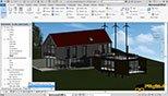 نمای سه بعدی باز Unlocked 3D View در نوار ابزار کنترل کننده دیدها View Control Bar در نرم افزار اتودسک رویت معماری آرکیتکچر 2018 (Autodesk Revit 2018)