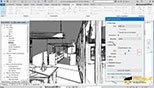 سایه ها Shadows و خط اسکیسی Sketch Line و وضوح عمق Depth Cueing از سربرگ تنظیمات صفحه نمایش گرافیکی در نرم افزار اتودسک رویت معماری آرکیتکچر 2018 (Autodesk Revit 2018)