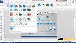 قالب بندی با استفاده از استایل های آماده نرم افزار ویزیو