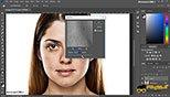 تکنیک روتوش ریتاچ Retouching شفاف کردن چشم ها در نرم افزار ادوبی فتوشاپ سی سی 2018 (Adobe Photoshop CC 2018 v19.1.3)