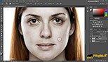 ترفند روتوش یا ریتاچ Retouching ایجاد افکت بر روی صورت در نرم افزار ادوبی فتوشاپ سی سی 2018 (Adobe Photoshop CC 2018 v19.1.3)