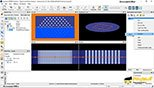 تغییر اتلاف کلی در یک خمش 90 درجه به عنوان یک تابع شعاع انحنا در نرم افزار Mode solutions