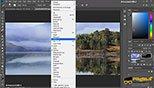 فیلتر clouds و different cloudsدر بخش فیلتر render و ایجاد آب در فتوشاپ photoshop