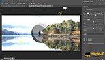 فیلتر های  lens flare / fibers / lighting effectsدر بخش فیلتر render در فتوشاپ photoshop