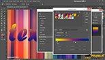 تغییر گرادینت لایه با افکت Gradient Overlay در Layer Style فتوشاپ عکاسی photoshop