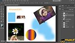 تغییر شکل دادن آزادانه  Free Transform در فتوشاپ عکاسی photoshop