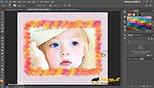 حاشیه سازی با استفاده از براش ها Brushes در نرم افزار فتوشاپ