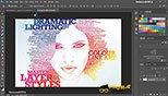 ساخت تصاویر با افکت متنی Typography در نرم افزار فتوشاپ