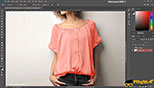 کاربرد انتخاب لباس Quick Mask در طراحی مد و فشن و لباس فتوشاپ Photoshop for Fashion Design