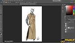 آشنایی با Layer mask و clipping mask  ماسک ها در طراحی مد و فشن و لباس فتوشاپ Photoshop for Fashion Design