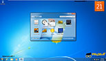 گجت ها (فعال کردن از طریق دسکتاپ) در ویندوز 7 Windows 7