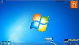 تنظیمات مربوط به گجت ها (جا به جا شدن در دسکتاپ) در ویندوز 7 Windows 7