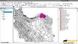 روشن و خاموش کردن و تغییر رنگ لایه ها در نرم افزار GIS Arc