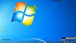 کار با ابزار desktop در ابزارهای نوار وظیفه ویندوز 7 Windows 7