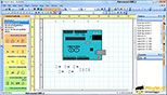 طریقه وارد نمودن نمادها از پنل نماد ها بصورت گرافیکی در نرم افزار پروفی کد ProfiCAD