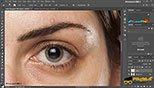 تکنیک روتوش Retouching اصلاح ابروها و اضافه کردن تار ابروها در نرم افزار ادوبی فتوشاپ سی سی 2018 (Adobe Photoshop CC 2018 v19.1.3)